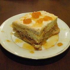 Kókuszkrémes piskótatorta Recept képpel - Mindmegette.hu - Receptek Hungarian Cuisine, Lasagna, Sweet Recipes, French Toast, Pie, Breakfast, Ethnic Recipes, Muffin, Foods