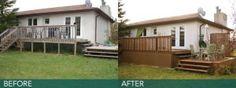 deckALL deck skirting made this backyard elegant and contemporary.