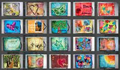 What a fabulous resource for art journal ideas!