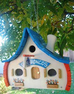 Boise State Birdhouses by BirdshacksUSA on Etsy, $45.00
