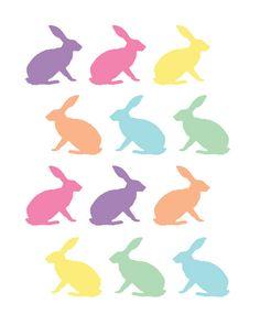 ADORABLE Bunnies Printable!  Love the simplicity!