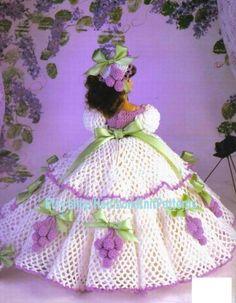 Doll Crochet Pattern - Southern Belle Dress Pattern - Barbie Doll Dress Silvia of Sacramento - Ladies of Fashion - Needlecraft Shop 972519 Crochet Doll Dress, Crochet Barbie Clothes, Crochet Doll Pattern, Crochet Patterns, Barbie Patterns, Doll Clothes Patterns, Southern Belle Dress, Crochet Fashion, Vintage Crochet