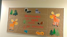 Welcome board - camping or forest theme bulletin board