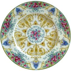 Beautiful Set of 8 Royal Worcester 10 3/8 Cabinet Plates