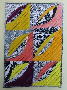quilts und mehr: #5 Blätter Versuch 1 - leaves, test1 Roots, Trees, Leaves, Quilts, Modern, December, Trendy Tree, Tree Structure, Quilt Sets