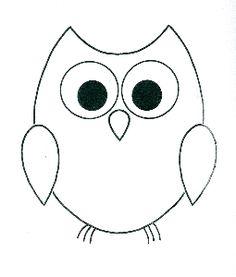 Simple Owl Outline