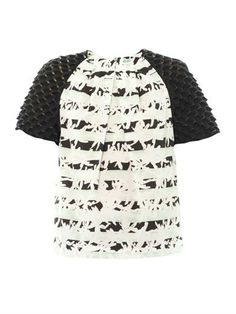 Palm-print contrast sleeve blouse | Kenzo | MATCHESFASHION.COM