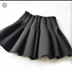 Black h&m scuba skirt Worn once cleaned and from smoke free home like New! H&M Skirts Mini