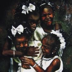 Sisters American Art, Expressive Art, Black Artwork, Amazing Art, Culture Art, Female Art, Art, Art Pictures, Beautiful Art