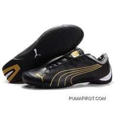1be9001f6d69 Mens Puma 10th Anniversary Metal Racing Shoes Black Golden TopDeals