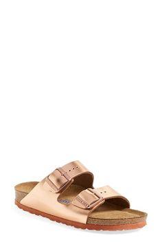 Birkenstock 'Arizona' Soft Footbed Leather Sandal (Women) | Nordstrom