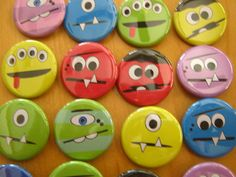 Silly Monster Faces Birthday Party Favors 20 by PutOnYourPartyCap