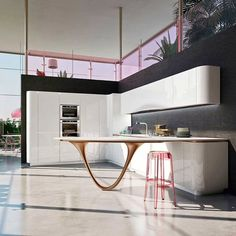 Ola 25 Kitchen by SNAIDERO, design Pininfarina