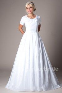 A wedding dress with pockets!  Give it a repin. Available at www.latterdaybride.com