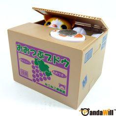 Cute Cat Kitten Chatora Coin Bank Itazura Money Save Box Gift - Japanese Toy NEW