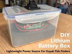 Kayak Fishing Fish Finder Battery - All About Fishing Kayak Fishing, Fishing Worms, Kayak Fish Finder, Diy Storage Crate, Kayak Anchor, Bait Tank, Hobie Mirage, Hobie Kayak