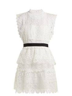 Floral-lace bandeau mini dress   Self-portrait   MATCHESFASHION.COM