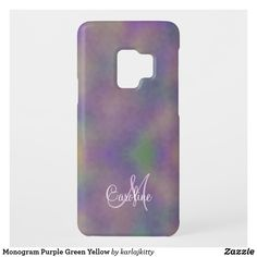 Select from a variety of Purple Samsung cases. Shop now for custom covers or create your own design! Electronics Accessories, Electronics Gadgets, Samsung Galaxy Cases, Custom Design, Monogram, Phone Cases, Yellow, Purple, Green