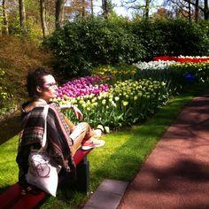 Keukenhof: Too many Tulips ^^ #nikes #streetstyle #style #fashion #look #flowers #colors #tulips #Netherlands #Keukenhof