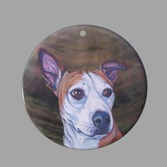 HAND PAINTED DACHSHUND DOG NATURAL MOTHER OF PEARL SHELL DIY PENDANT ZP30 00761 #ZL #PENDANT