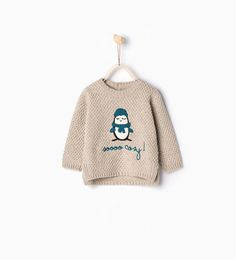 Image 1 of Penguin knit sweater from Zara