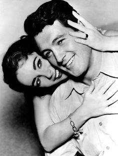 Elizabeth Taylor and Rock Hudson.