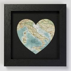 Cut out map of a favorite vacation, birth-state, honeymoon, etc.