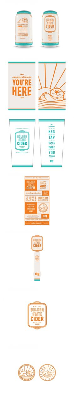 California to the Core: Golden State Cider — The Dieline | Packaging & Branding Design & Innovation News