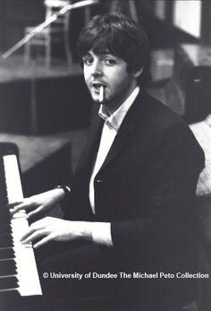 Sir Paul at the keys