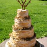 """Four Tier Wedding Cake designed and created for Brides Magazine """"metallics"""" feature May/June 2014 – with a rustic buttercream or royal icing by Sussex Cake Maker Supreme... Sylvias Kitchen!"""