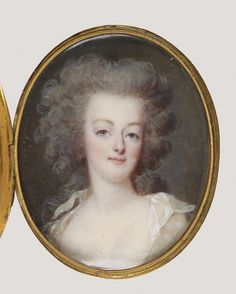 A miniature of Marie Antoinette by an unknown artist,