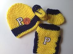 Baby Indiana Pacers Basketball Crochet Gift Set on Etsy, $25.00