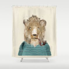 $68 jeep the lion Shower Curtain
