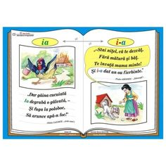 "Plansa Ortograma ""i-a"" / cuvantul ""ia"" Romanian Language, Class Decoration, Alphabet, Baseball Cards, Education, Learning, School, Craft, Health"