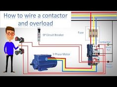 How to wire a contractor and overload – Earth Bondhon Conduit Bending, Ladder Logic, Electrical Switches, Electrical Projects, Concrete Steps, Electric Power, Ac Power, Conductors, Control System