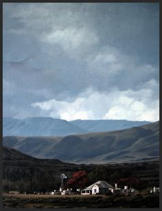 """Swartberg Farm"" - Karoo Landscape by South African artist, Shelagh Price.  http://www.shelaghprice.com"