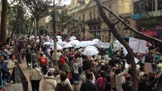 En imágenes: Así transcurre la gran movilización por la paz en Bogotá