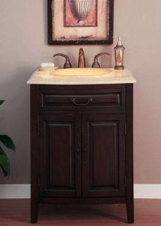 27 Bathroom Furniture Led Lighted Honey Onyx Top Single Sink Vanity Cabinet 726 To Find