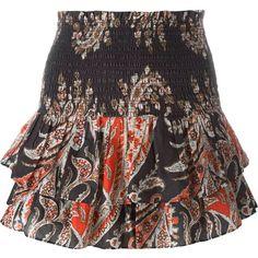 Isabel Marant Étoile 'Shanon' skirt (€205) ❤ liked on Polyvore featuring skirts, mini skirts, multicolour, short skirts, short cotton skirts, short mini skirts, multicolor skirt and multi colored skirt