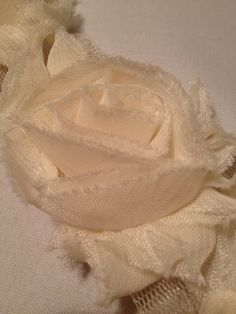 Cream Chiffon Flowers by MonAmiePaperie on Etsy, $5.44