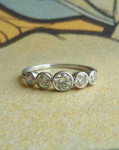 Kate Szabone 5-Stone Bezel Set Diamond Ring