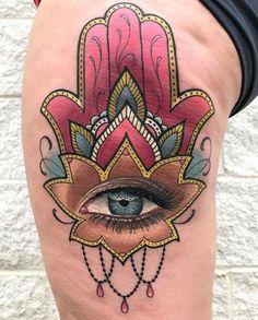 Protect Yourself Fom Evil With Hamsa Eye Tattoo