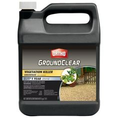 Ortho GroundClear Vegetation Killer Concentrate, > Kills weeds and prevents new growth for up to 1 year Kills unwanted vegetation from driveways, walkways, patios, fence rows and other areas for up to a year Visible results in hours Types Of Insects, Bees And Wasps, Pest Management, Humming Bird Feeders, Weed Control, Garden Guide, Buy Weed, Lawn And Garden, Organic Gardening