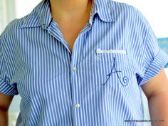 Vintage Crafts- Retro Style Upcycled Men's Shirt | My So Called Crafty Life