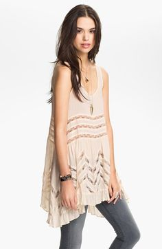 Cute as a cover-up for my cruise.....Free People Lace Trim Trapeze Tunic Dress | Nordstrom