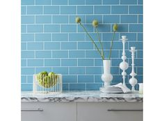 Prismatics Duck Egg Gloss Wall Tile