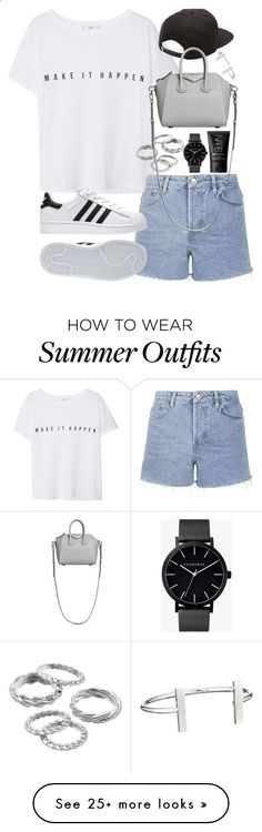 Outfit for summer with Adidas sneakers by ferned on Polyvore featuring MANGO, Topshop, Apt. 9, Vans, Givenchy, adidas, The Horse, NARS Cosmetics and French Connection