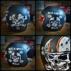 custom biltwell bonanza old school 3/4 helmet