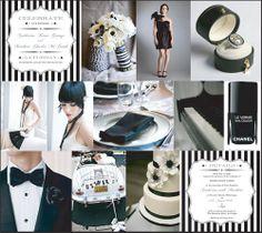 Black and White Stripe Wedding