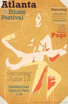 Atlanta Blues Festival - Poster Series by Kyle Weik, via  ~Great job Kyle =)